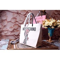 MOSCHINO TEDDY BEER LEATHER SHOPPING BAG