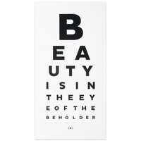 Beauty Eye Chart Print