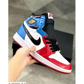Air Jordan 1 Fearless patent leather high basketball shoes