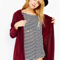 BDG Hooded French Terry Cardigan-