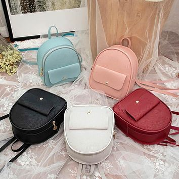 Fashion Women Shoulders Small Backpack Letter Purse Mobile Phone Ladies Travel Bag Student School Backpacks