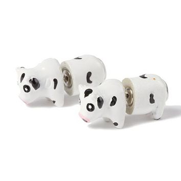 Cow Front and Back Stud Earrings    Claire's
