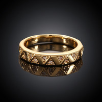 Waves Gold Plated Ring
