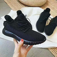 """""""Adidas"""" Women Yeezy Boost Sneakers Running Sports Shoes pure black H-AGG-CZDL"""