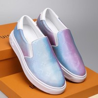 shosouvenir  Louis Vuitton LV 5D Seven Colours Dazzling and Colouring Men's Shoes