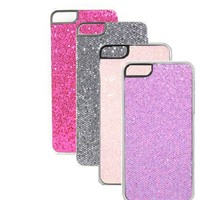Four Bling Glitter Sparkling Skin Cases (Purple, Black, Hot Pink, Pink) Combo Shining Faceplates Compatible with Clear Frame for the New Iphone 5 5g