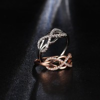 Dazzling Crystal Infinity Ring