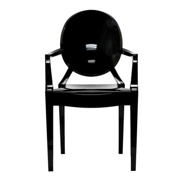 Philippe Starck Style Louis Ghost Arm Chair Black