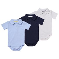 Baby Boys Rompers Summer Polo Shirt Infant Jumpsuit Solid Cotton Girls Clothing Short Sleeve Newborn Baby Boy Clothes 8 Colors