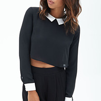 FOREVER 21 Collared Woven Top