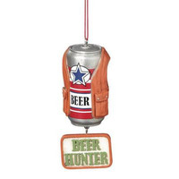 """Christmas Ornament -  """" Beer Hunter """"  Hunting Beer Can"""