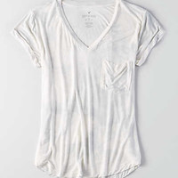 AEO Soft & Sexy V-Neck Favorite T-Shirt, Natural White