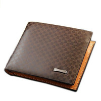 Men's Casual Leather Fashion Grid Wallet