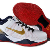 nike zoom kobe bryant 7 system usa olympic edition red white blue gold mens basketball