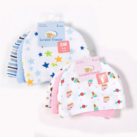 3pcs/lot Baby Hats Luvable Friends Pink/Blue Star Printed Baby Hats & Caps for Newborn Baby Accessories