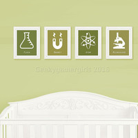 Science Nursery | Geeky Nursery decor | Geeky kids room poster | Kids room decor | baby shower gift | custom color available