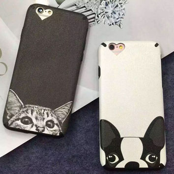 Cat Dog Cover Case for iPhoneX 8 7 Plus & iPhone 6s 6 Plus+ Gift Box-339