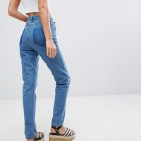 Boohoo Turn Up Hem Mom Jeans at asos.com
