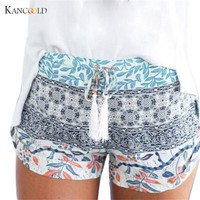 Women Summer Shorts Casual Women's Hot Shorts Printed Sexy Woman Short High Stretch Exercise Trousers 2017 drop shipping ly29GBY