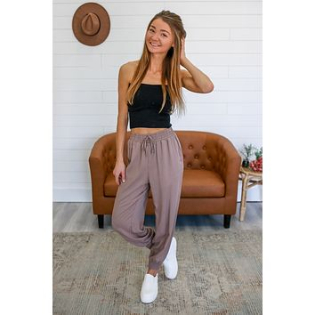 Go With The Flow Pants - Taupe