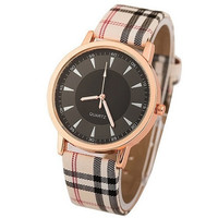 New Double Style Classic Design Luxury Grid Leather Casual Wristwatch Women Dress Quartz Dress Watch 3 Colors For Gift = 1932397636