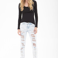 FOREVER 21 PLUS Classic Long Sleeve Top