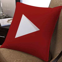 """youtube icon full colour pillow ---- pillow one and two side by  """"galaxyplatinum"""","""