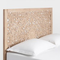 Natural Carved Zaria Headboard