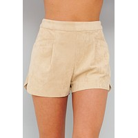 We Look Good Together Faux Suede Shorts (Sand)