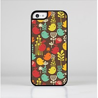 The Orange & Red Cute Vector Birds Skin-Sert Case for the Apple iPhone 5c