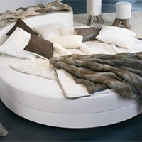 Round bed Yunak Collection by Bleu Nature