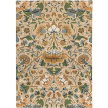 William Morris Arts and Crafts Area Rug Yellow, Blue