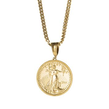 Gold Coin Inspired Pendant