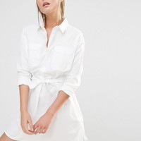 French Connection Amy Poplin Shirt Dress at asos.com