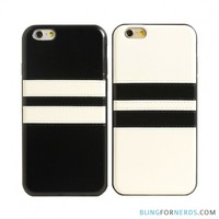 Stitched Leather Striped Case - iPhone 6