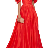 Off-The-Shoulder Silk Gown | Moda Operandi