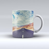 The Desert Road ink-Fuzed Ceramic Coffee Mug