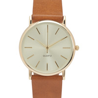 Faux Leather Core Analog Watch