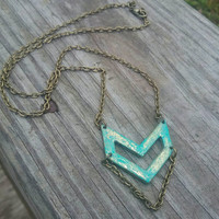 Chevron necklace, geometric necklace, boho chevron necklace, gift for her, stocking stuffer
