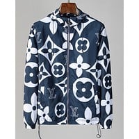 LV Louis Vuitton Fashion Hoodie Zipper Jacket Coat Windbreaker Sportswear