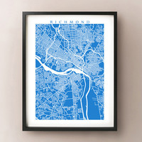 Richmond Map Print - Virginia Poster Art