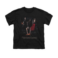 VAMPIRE DIARIES/FIRE-S/S YOUTH 18/1-BLACK