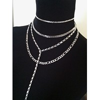 Stainless Steel Collection - Build Your Own Necklace - Choker, Lariat Layering Chains