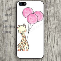 cartoon Giraffe balloon colorful iphone 6 6 plus iPhone 5 5S 5C case Samsung S3, S4,S5 case, Ipod touch Silicone Rubber Case Phone cover Waterproof