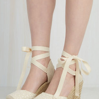 Boho Miss Mary Macrame Wedge