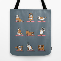 English Bulldog Yoga Tote Bag by Huebucket
