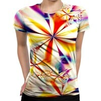 Blinding Flower Womens T-Shirt