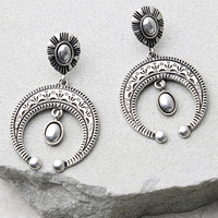 Meet my Gaze Silver Earrings