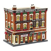 """Department 56 Christmas in the City Village Jacobs' Pharmacy Light House, 8.07"""""""