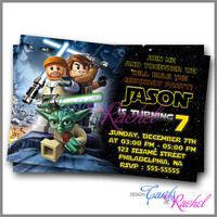 Star Wars Lego Design Invitation - Invitation Card Design For Birthday Party Kid